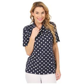 RÖSSLER SELECTION Damen-Poloshirt marine/weiß