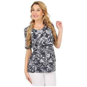 RÖSSLER SELECTION Damen-Shirt marine/weiß