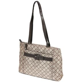 Marc Chantal Logo-Shopper braun