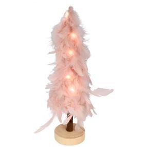 LED-Federbaum rosa 31cm