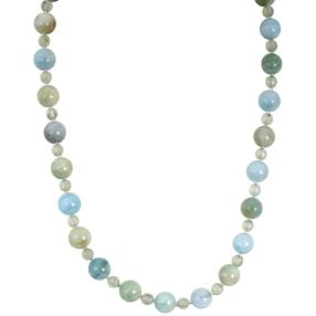 Collier Aquamarin/Prehnit