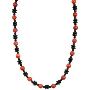 Collier Koralle/Onyx Magnet