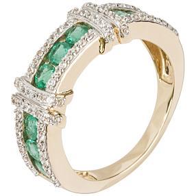 Ring 585 Gelbgold Sambia Smaragd