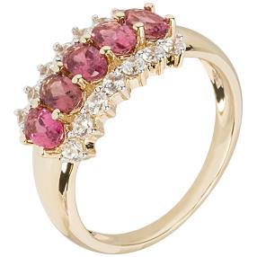 Ring 585 Gelbgold, Turmalin pink
