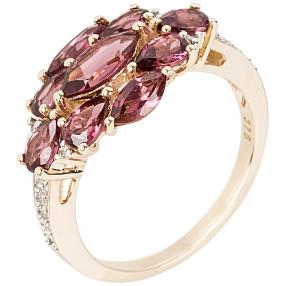 Ring 375 Gelbgold Umbalit Granat