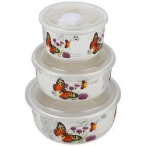 Porzellan-Schüsselset Schmetterlinge 3-teilig