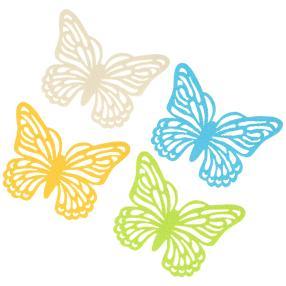 Glasuntersetzer Schmetterling 4-teilig