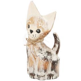 """Darimana Katze """"Lucu"""", 25 cm, Albesiaholz"""
