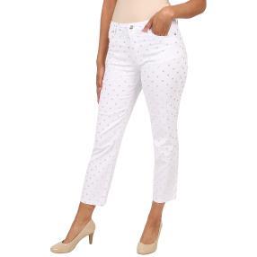 """Jet-Line Damen-Jeans """"Silver Dots"""" white/silver"""