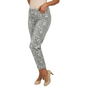 "Jet-Line Damen-Jeans ""Grey Gem"" grey/white"