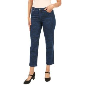 "Jet-Line Damen-Jeans ""Indigo Leaves"" blue/blue"