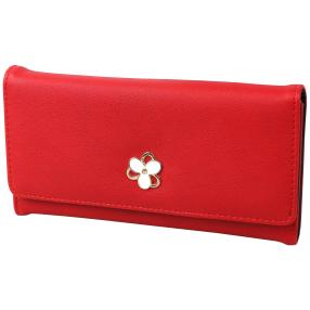 Donna Damen-Börse Blume rot