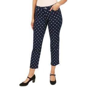Jet-Line Damen-Jeans 'Denim Dots' darkblue/blue