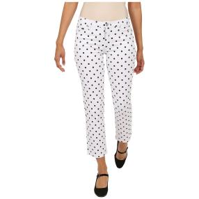 Jet-Line Damen-Jeans 'Black Dots' white/black