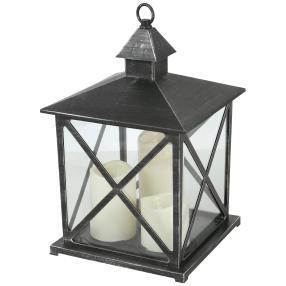 LED-Laterne schwarz