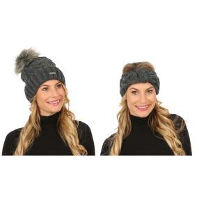 Damenset: Mütze + Stirnband Strickzopf exklusiv