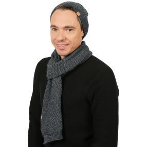Herrenset: Mütze + Schal Scandinavian Hector blau
