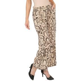Weite Damen-Hose 'Leopard' beige/schwarz