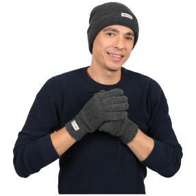 Herrenset: Mütze + Handschuh 3M THINSULATE dunkelg