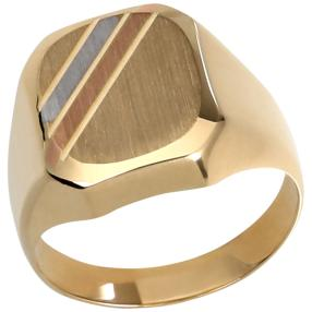 Ring 585 Gelbgold, Roségold und rhodiniert