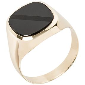 Ring 585 Gelbgold, Onyx