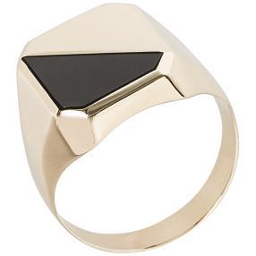 Ring 585 Gelbgold Onyx