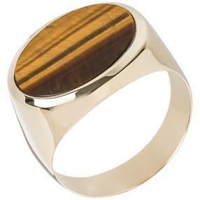 Ring 585 Gelbgold, Tigerauge