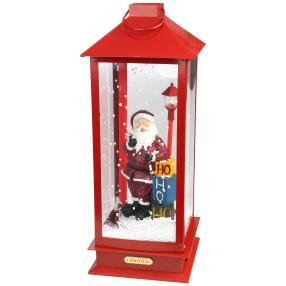 Schneelaterne Santa, 48 cm, rot