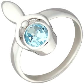 Ring 925 Sterling Silber Sky Blue Topas beh.