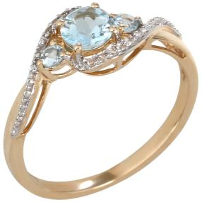 Ring 375 Gelbgold Aquamarin
