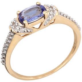 Ring 375 Gelbgold, AATansanit + Zirkon