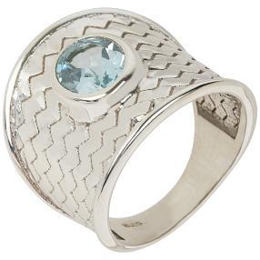 Ring 925 Sterlingsilber Sky Blue Topas behandelt