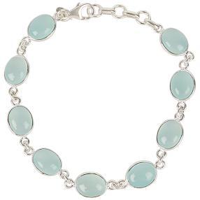 Armband 925 Sterling Silber Calzedon blau