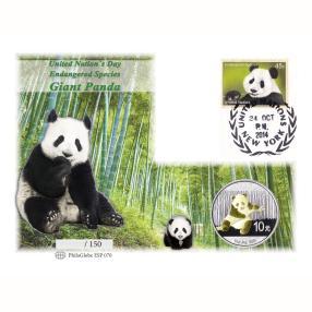 U.N.Panda 2014 Silbermünzbrief