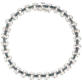 Armband 925 Sterlingsilber rhodiniert Diamanten