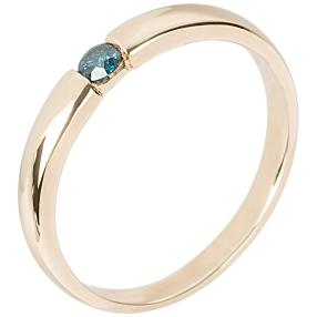 Ring 585 Gelbgold Brillant blau