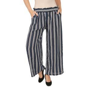Weite Damen-Hose 'Colorful Stripes' multicolor