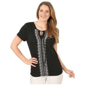 Sommerliches Damen-Shirt 'Forrada' schwarz
