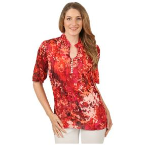 Sommerliche Damen-Crash-Bluse 'Toledo' multicolor