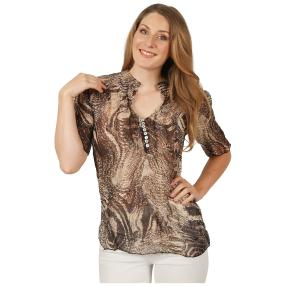 Sommerliche Damen-Crash-Bluse 'Girona' multicolor
