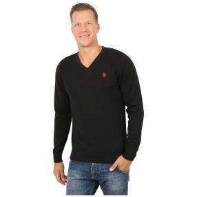 U.S. POLO ASSN. Herren-Pullover schwarz