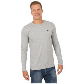 U.S. POLO ASSN. Herren-Shirt Langarm grau