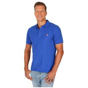 U.S. POLO ASSN. Herren-Poloshirt Kurzarm blau