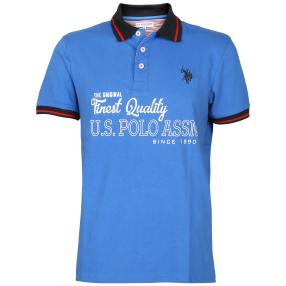 U.S. POLO ASSN. Herren-Poloshirt, Kurzarm, blau