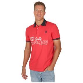 U.S. POLO ASSN. Herren-Poloshirt, Kurzarm, rot