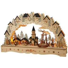 Lichterbogen Dorf mit Weihnachtsmarkt