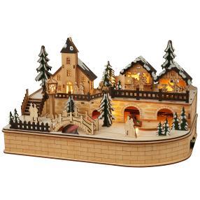 Weihnachtsstadt mit Zug