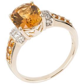 Ring 375 Gelbgold. Madeira Citrin