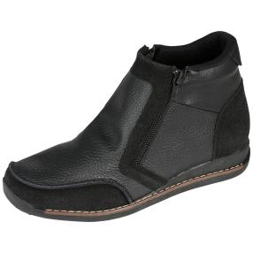 SANITAL LIGHT Damen-Lederstiefeletten schwarz