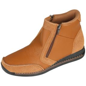 SANITAL LIGHT Damen-Lederstiefeletten cognac